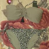 Купальник хаки Esmara p.40 европ. раздельный,бикини,лиф с чашками