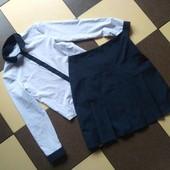 Школьный комплект(рубашка(блуза) + юбка