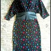 Много лотов! Шикарное платье с корсетом из экокожи