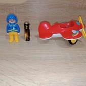 самолётик Playmobil, оригинал, с фигуркой пилота