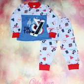 Пижама детская с начесом Тик ток, р.26, 28, 30, 32, 34. Один размер на выбор.