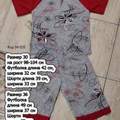 Хлопковая пижамка с шортами или костюм для дома, одна на выбор, размеры 30, 32 и 36