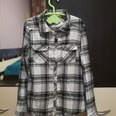 Классная, приятная к телу рубашка H&M 11-12лет 152 см