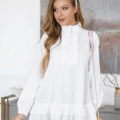 Красивая женская блуза софт. размер на выбор.