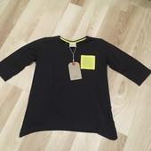 Футболка Zara графитовый цвет можно как туника рукав 3/4 хлопковая очень стильная под белые лосины