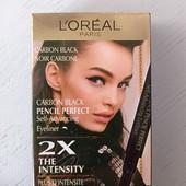 Підводка-маркер для повік L'Oreal carbon black pencil perfect