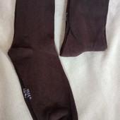 3 пары! Набор! Носки унисекс Германия размер 39/42 хлопковые, цвет: коричневый