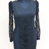 Новое красивое платье.рукав гипюр.рр42-44.