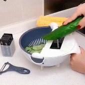 Многофункциональная вращающаяся овощерезка мультислайсер, терка-овощерезка basket vegetable cutter