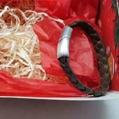 кожанный браслет ручной работы