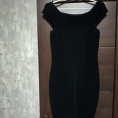 Фирменное красивое платье-футляр(корсетная резинка) р.12 вискоза нейлон эластан