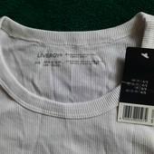 Livergy хлопковая футболка в рубчик, размер евро S