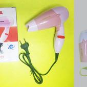 Фен портативный, дорожный для волос складной nova TC 1395