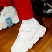 Супер кроссы, белые унисекс, размеры 31.32.33! Маломерят!