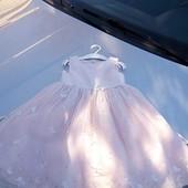 Стоп!!фирменное красивое яркое удобное нарядное пышное платье с вышивкой