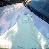 Стоп!!фирменное красивое яркое натуральное удобное нарядное платье с вышивкой от h&m