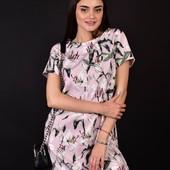 Стильне літнє жіноче плаття в квітах