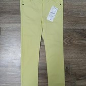 Крутые Джинсы для девочки яркого лимонного цвета от Kiabi Р. 3 года (90-97см)