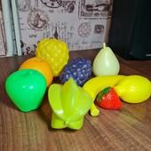 Очень реалистичные пластмассовые фрукты для детей
