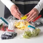 Зажимы для хранерия содержимого открытых пакетов/чая,круп,муки и тд.10 шт.