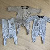 Комплект человечков на малыша 1-3 месяца 56-62 см Шапочка в подарок