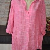 сток , легенька подовжена блуза -туніка 52 розмір