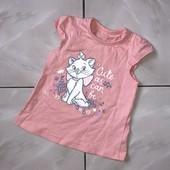 Стоп! ❤ Отличное состояние, Фирменная футболочка для малышки,+-6 м❤море лотов