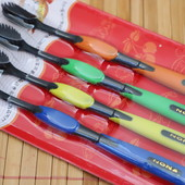 Набор бамбуковых зубных щеток (4 штуки)