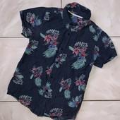 Стоп,суперстильно❤Фирменная коттоновая рубашка в цветочный принт для мальчика,9/10лет❤ Много лотов!