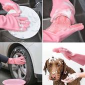 Многофункциональная силиконовая перчатка для мытья и чистки.