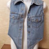 Жилет джинсовый, размер 34