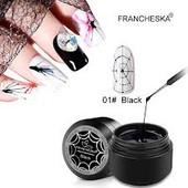 Паутинка для дизайна и декора ногтей. В лоте одна на выбор белая, золото, чёрная или серебро