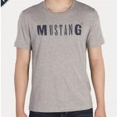 Комфортная футболка из био-хлопка от Mustang, 100% оригинал , размер ХЛ евро