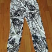 Летние лёгкие брюки на манжетах внизу
