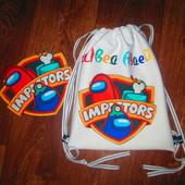Всеми любимые красочные ,именные рюкзачки!