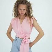 Zara джинсові бермуди з поясом пейпербег! оригінал португалії!