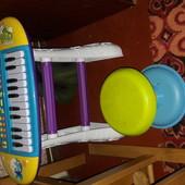 Дитяче велике піаніно,синтезатор з стільчиком