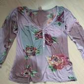 Роскошная кофта в цветы Indiska, разм L, XL