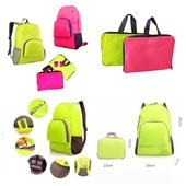 Рюкзак - трансформер: компактно, удобно и всегда по рукой! 38*13*43 см. Цвет розовый, салатово-желт