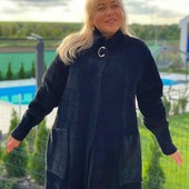 Кардиган из альпаки размер 54-56,цвет черный.