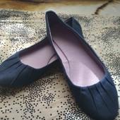 Балетки из текстиля,сменная обувь.