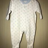 Хлопковый слип на возраст 0-1 месяцев