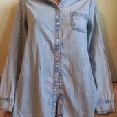 Женская джинсовая рубашка. Размер 44