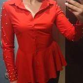 Шикарная блузка с бусинами