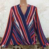 Полосатая женская блуза Bonmarche, размер Л