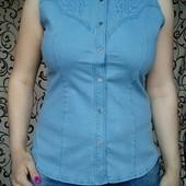 Джинсовая рубашка.размер 56-58,