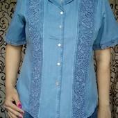 Джинсовая рубашка. Размер 58/60