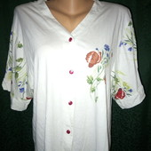 Батал! Качественная хлопковая рубашка-вышиванка