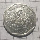 Монета Франции 2 франка 1979