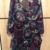 Пляжна туніка-плаття розмір М з карманами